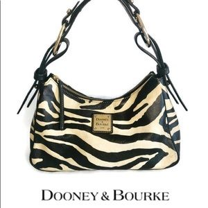 Dooney & Bourke Small Zebra Print w/black Accents
